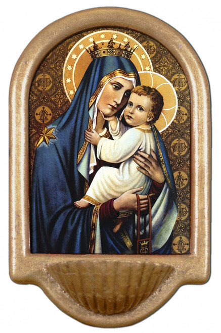 Our Lady of Mt. Carmel Holy Water Font