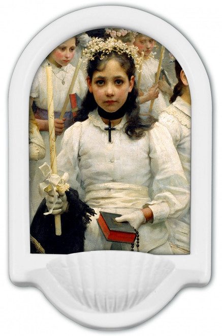 After the First Holy Communion (Detail 1 Girl) Holy Water Font