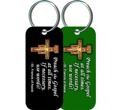 Preach the Gospel Rectangle Keychain