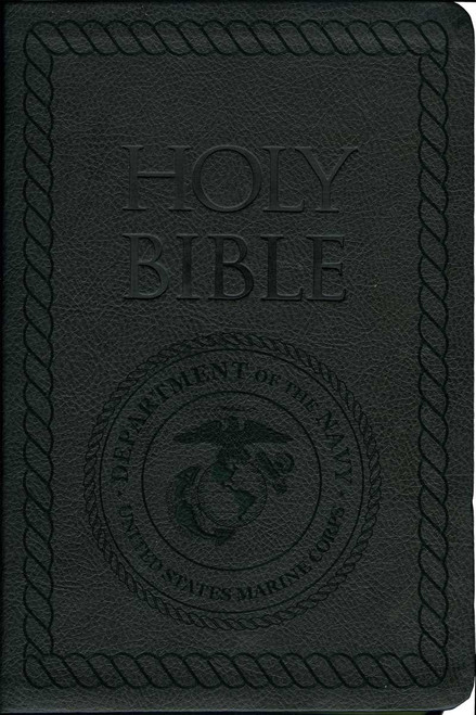 Laser Embossed Catholic Bible with Marine Cover - Black NABRE