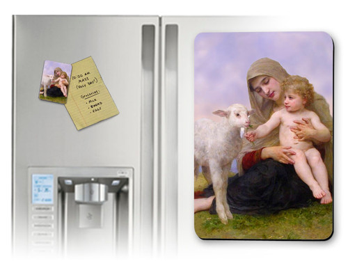 Madonna, Child, and Lamb Magnet