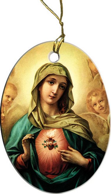 Immaculate Heart of Mary Ornament