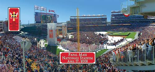 Papal Mass at Nationals Stadium 2008 Mug