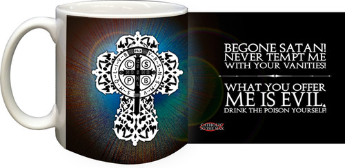 Blue Benedictine Cross Coffee Mug