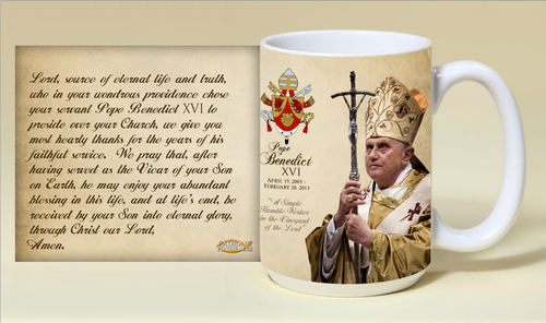 Pope Benedict XVI Commemorative 15 oz Mug