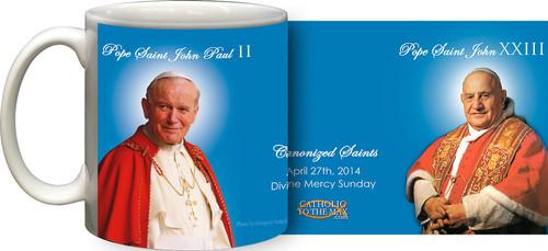 Pope John Paul II & John XXIII Sainthood Portraits Mug
