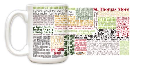 Saint Thomas More Quote Mug