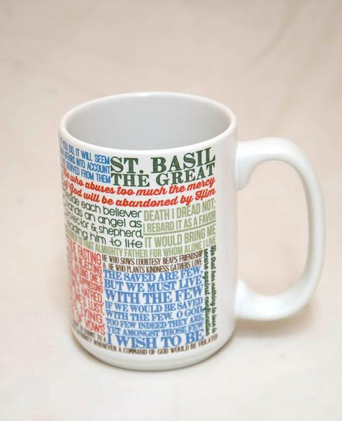 Saint Basil the Great Quote Mug