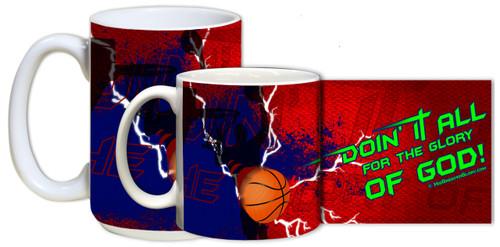 """""""Doing It All"""" Basketball Mug"""