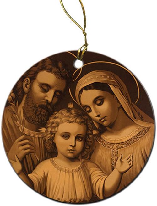 Sepia Holy Family Ornament