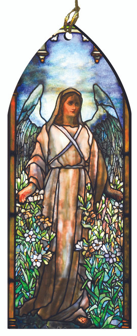 St. Gabriel the Archangel Stained Glass Wood Ornament