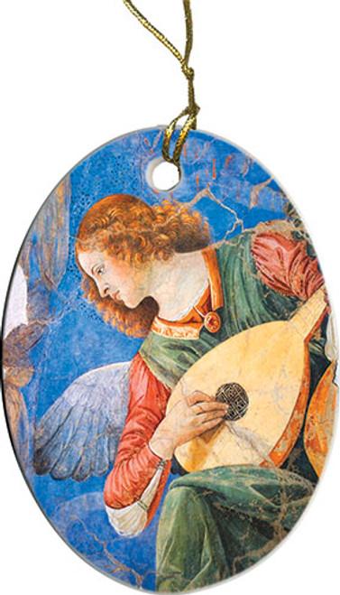 Brunette Angel Ornament