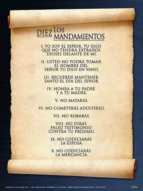 Spanish 10 Commandments Poster