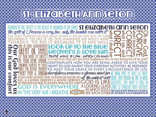 Saint Elizabeth Ann Seton Quote Poster