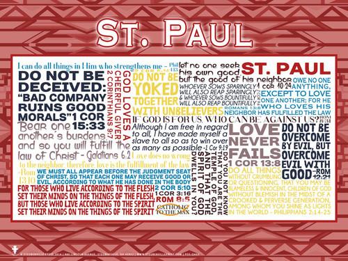Saint Paul Quote Poster