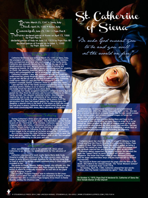 Saint Catherine of Siena Explained Poster