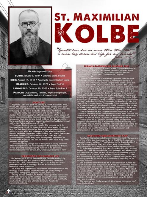 Saint Maximilian Kolbe Explained Poster