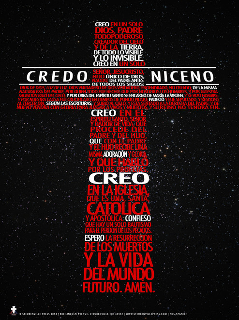 Spanish New Nicene Creed Poster