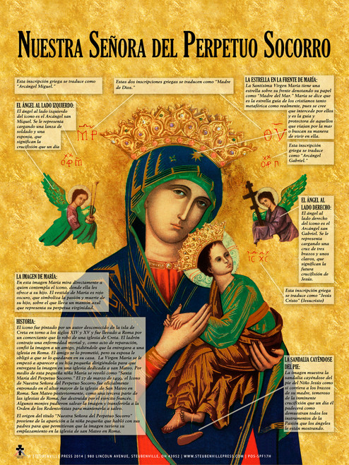 Spanish Our Lady of Perpetual Help Explained Poster