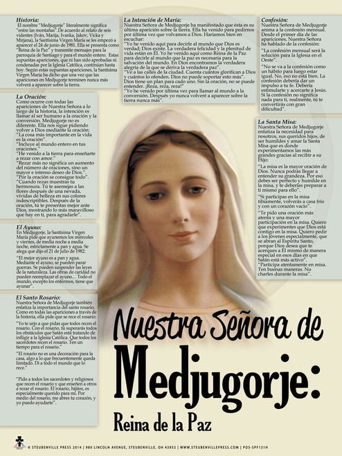 Spanish Our Lady of Medjugorje Explained Poster