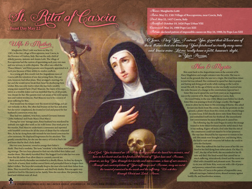 Saint Rita of Cascia Explained Poster