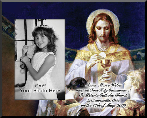Christ, Bread of Angels Personalized Photo Plaque