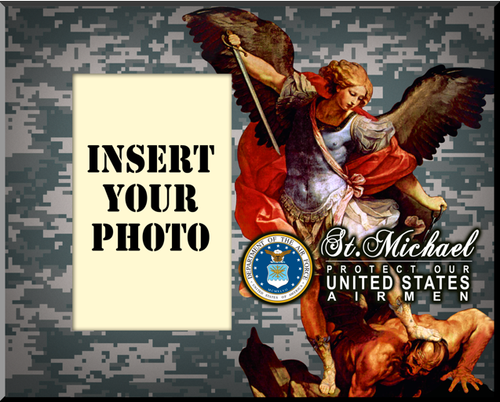 Air Force St. Michael Photo Frame