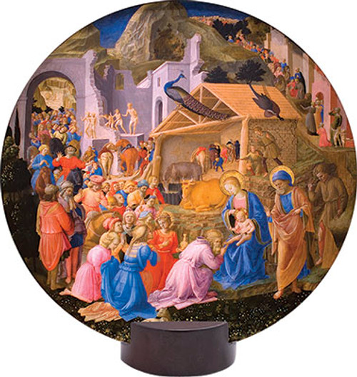 Adoration of the Magi Round Desk Plaque