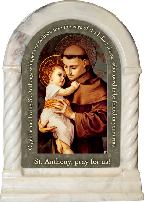 St. Anthony with Jesus Prayer Desk Shrine