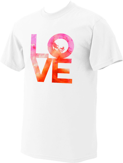 Love with Baby Watercolor on White Pro-Life T-Shirt