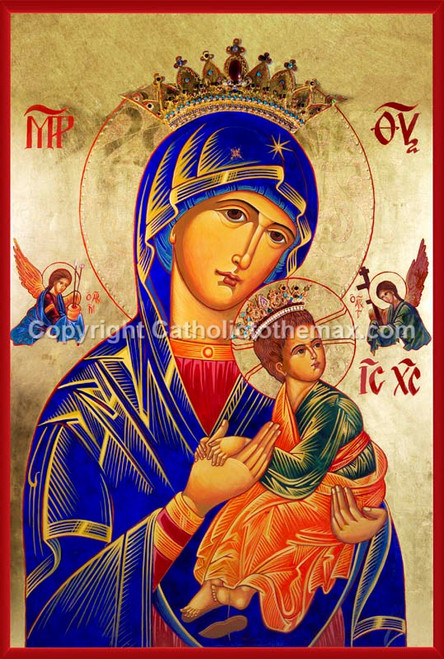 The Virgin of Passion (Our Lady of Perpetual Help) Icon Wall Plaque