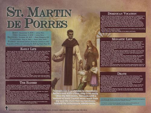 St. Martin de Porres Explained Poster