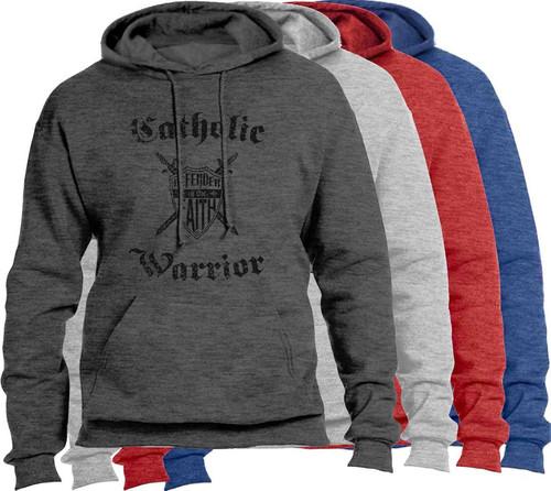 Catholic Warrior Defender of the Faith Heather Hoodie