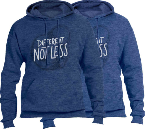 Different Not Less Heather Pro-Life Hoodie