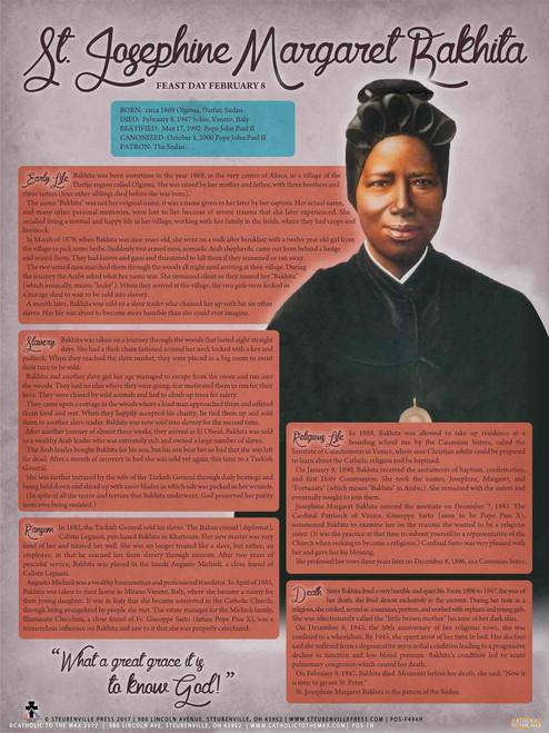 St. Josephine Margaret Bakhita Explained Poster