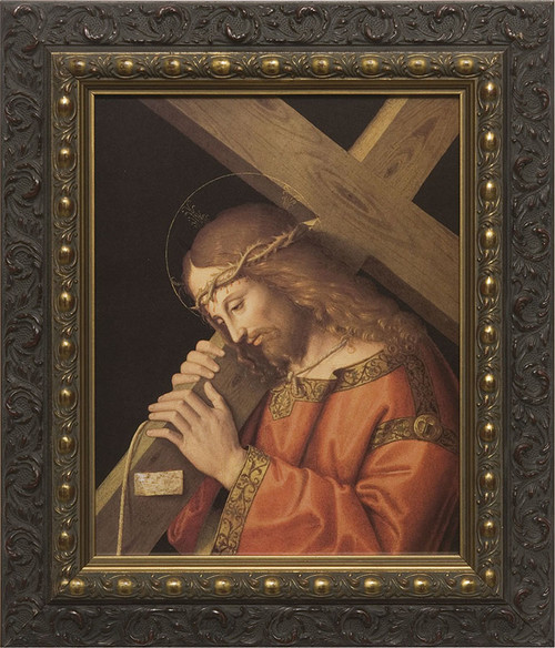 Christ Bearing the Cross  - Dark Ornate Framed Canvas