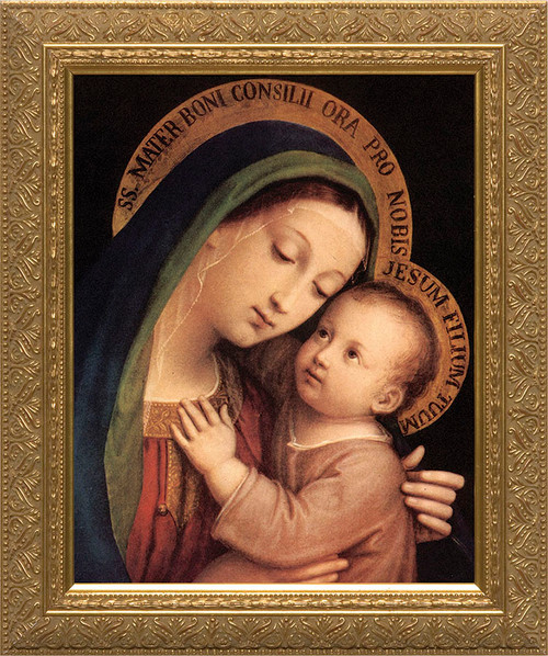 Our Lady of Good Counsel - Gold Framed Canvas