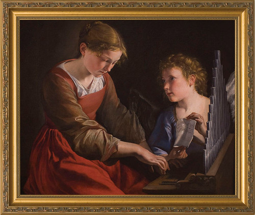 St. Cecilia - Standard Gold Framed Canvas