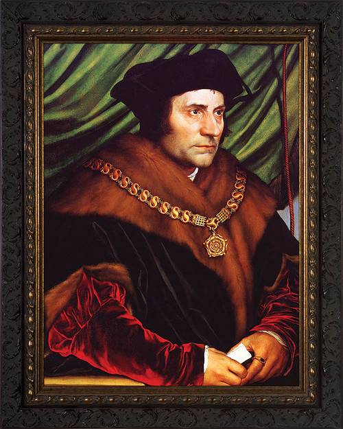 St. Thomas More - Ornate Dark Framed Canvas