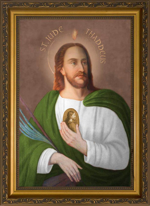 Saint Jude - Standard Gold Framed Canvas