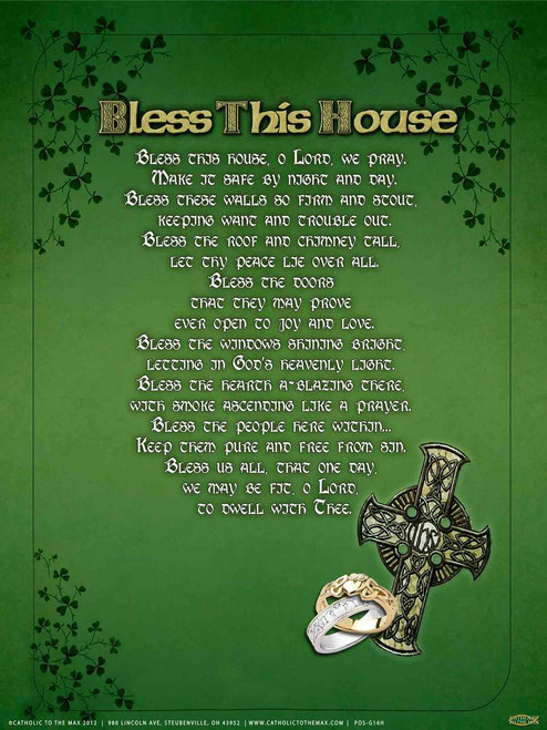"Irish ""Bless This House"" Poster"