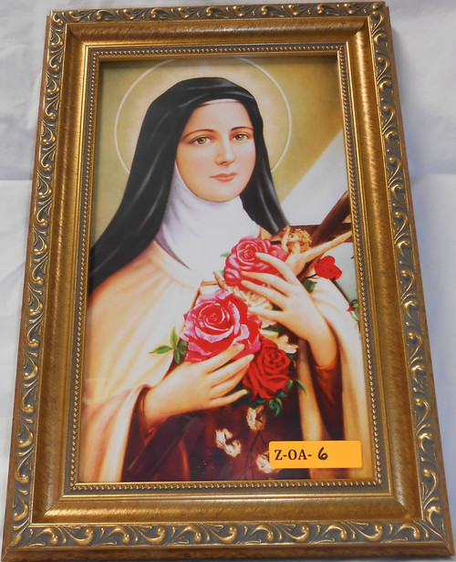 CLEARANCE St. Therese of Lisieux 8x12 Elegant Framed Print