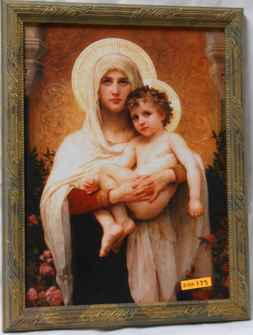 CLEARANCE Madonna of the Roses 12x16 Framed Print