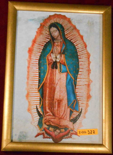 CLEARANCE Our Lady of Guadalupe 8x12 Wood Framed Print
