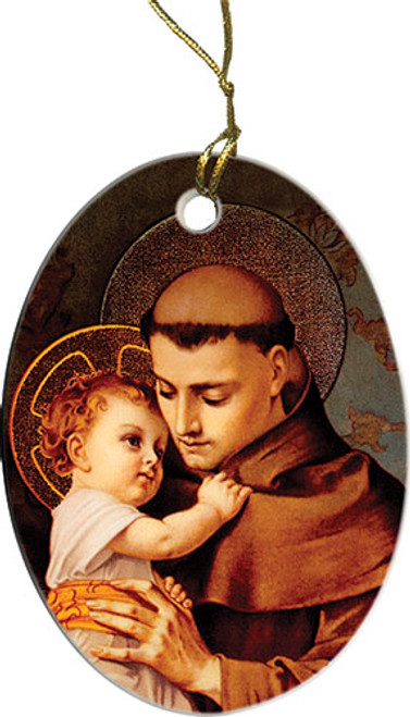St. Anthony with Jesus Ornament