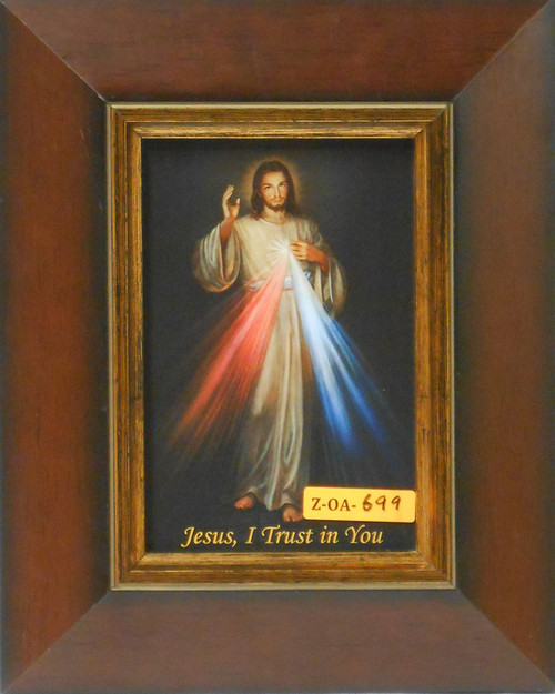 CLEARANCE Divine Mercy 5x7 Wide Wooden Framed Print