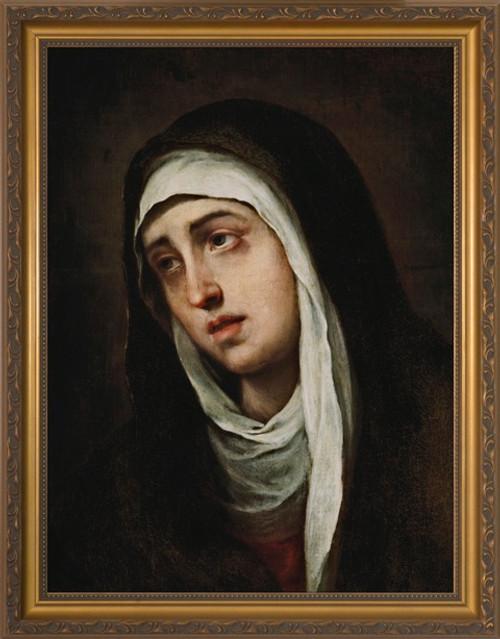 Dolorosa by Murillo - Gold Framed Art
