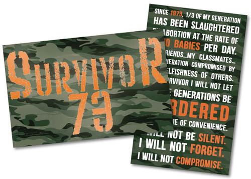 Survivor '73 Holy Card