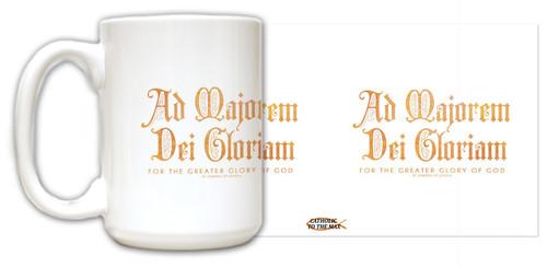 """""""Ad Majorem"""" St. Ignatius of Loyola Quote Mug"""