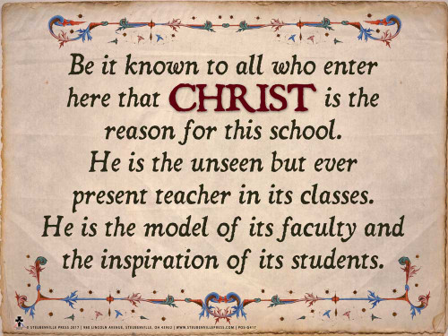 """Christ is the Reason For This School"" Graphic Poster"